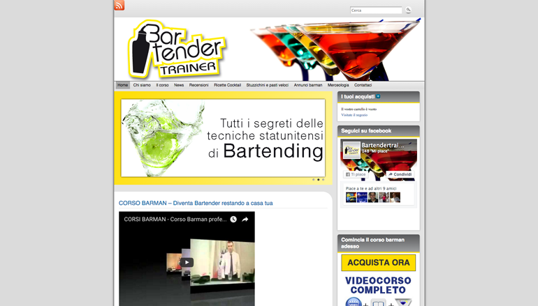 sito web bartendertrainer - home