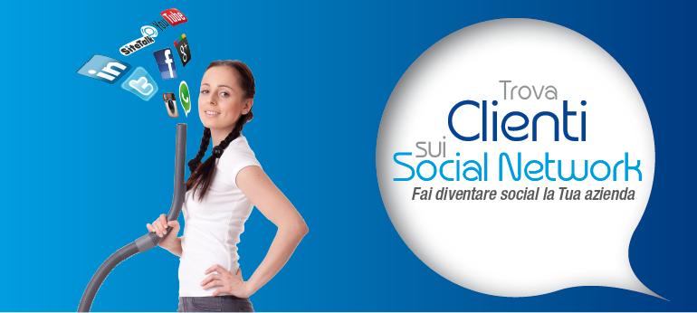 trovare clienti su facebook twitter e social network